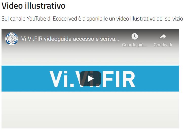 Dall'8 marzo è possibile adottare la nuova vidimazione elettronica del formulario (vi.vi.fir), in alternativa al formulario in 4 copie a ricalco