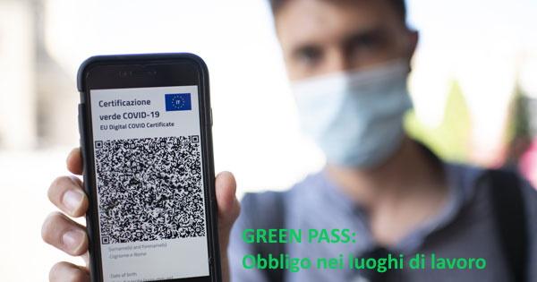 Pubblicato il decreto sul green pass nei luoghi di lavoro