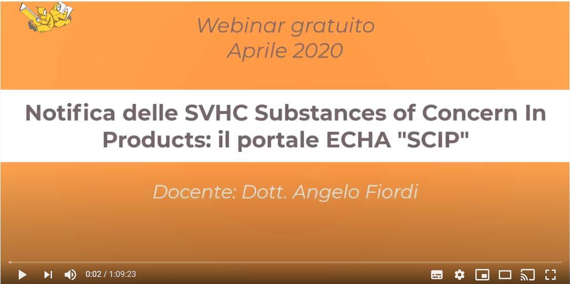"""I WebinARS - i webinar di ARS Edizioni informatiche: Notifica delle SVHC Substances of Concern In Products: il portale ECHA """"SCIP"""""""