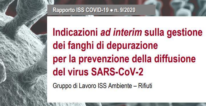 ISS: indicazione sulla gestione dei fanghi di depurazione per la prevenzione della diffusione del Coronavirus