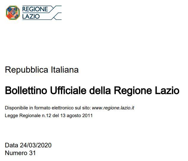 Regione Lazio: adempimenti A.I.A. ed emergenza covid-19