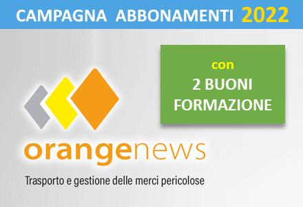Campagna abbonamenti 2022  OrangeNews.it (abbonamento +  2 buoni da 50 Euro per corsi di formazione)